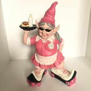 Roller Skating Gnome Statue